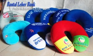 produksi Bantal leher souvenir Bank