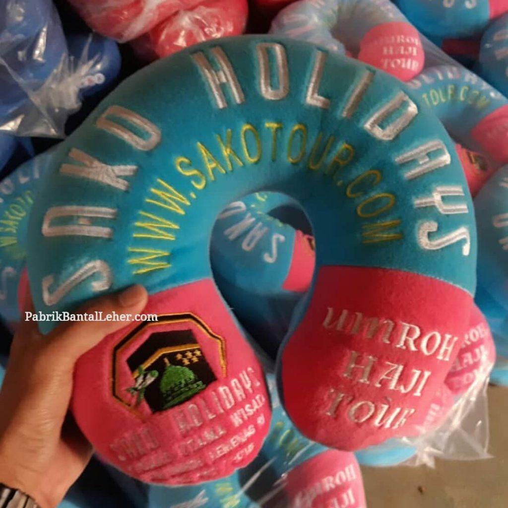 souvenir bantal leher bordir sako holidays